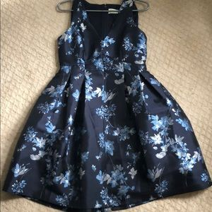 Eliza J blue floral dress